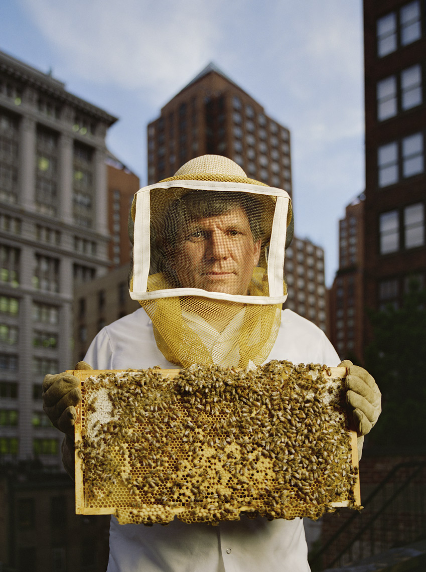 Portrait of urban beekeeper David Graves