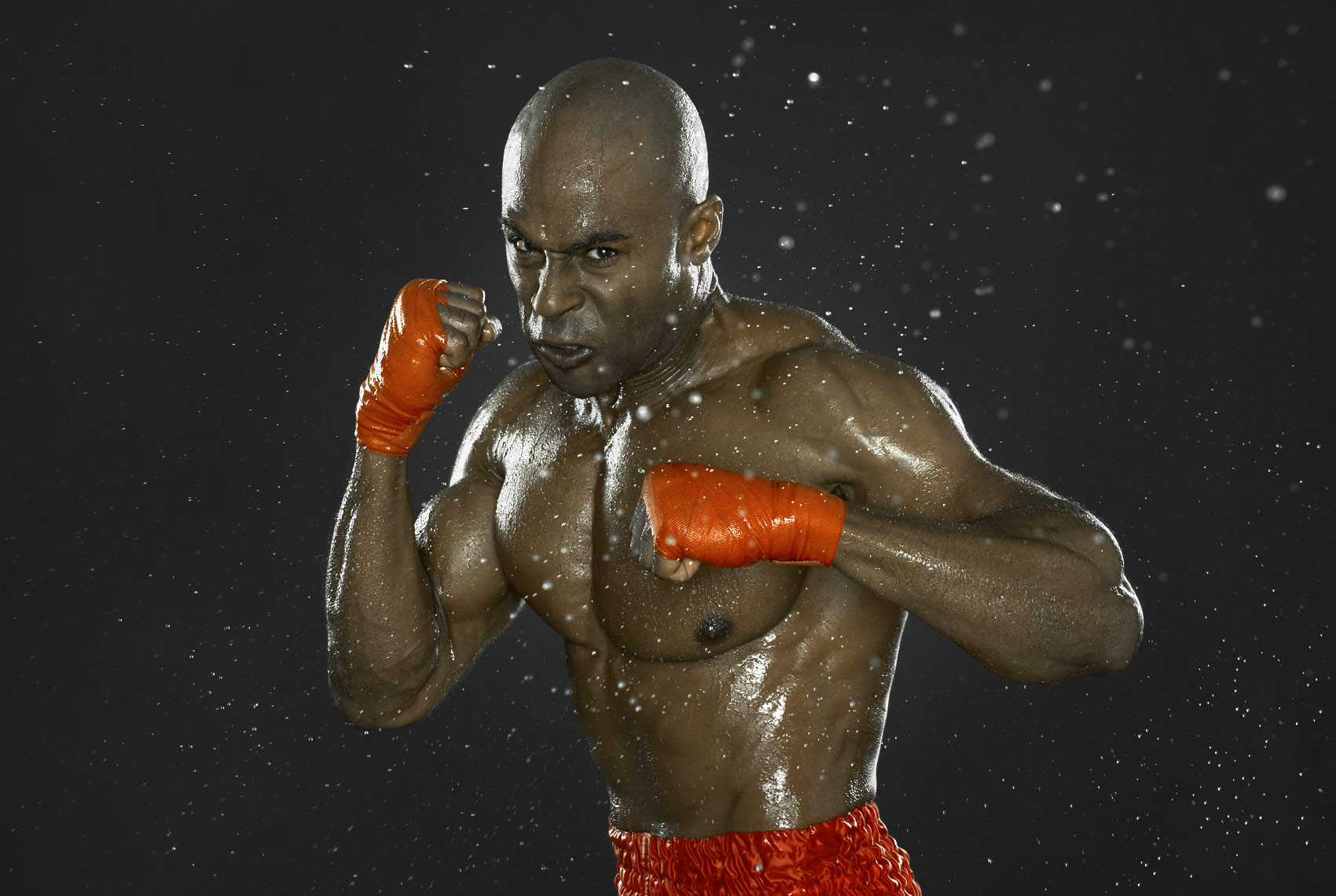 Sony advertisement with boxer